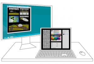 Windows Desktop Tablet Photoshop Concept